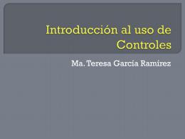 Introducción al uso de Controles