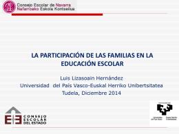 la participación de las familias en la educación escolar
