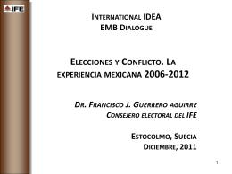 Elecciones y conflicto. La experiencia mexicana