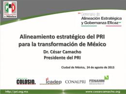 Alineamiento estratégico del PRI para la transformación de México