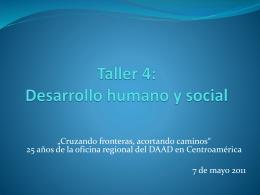 Desarrollo humano y social - DAAD Centro de Información para