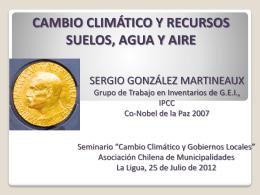 Cambio Climático y Recursos, Suelos Agua y Aire