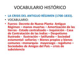 la crisis del antiguo régimen (1700