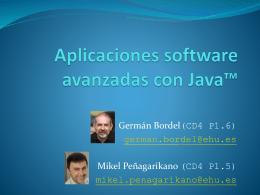 Aplicaciones software avanzadas con Java