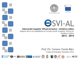 Educación Superior Virtual Inclusiva – América Latina