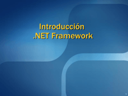 Introduccion .NET