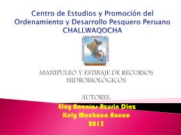 MANIPULEO Y ESTIBAJE DE RECURSOS