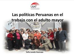 Las políticas Peruanas en el trabajo con el adulto mayor
