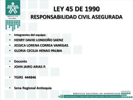Ley 45 de 1990 GCHP AG 2013.