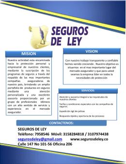 coberturas - segurosdeley.co