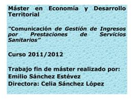 Presentación para el Tribunal - EMILIO SÁNCHEZ ESTÉVEZ