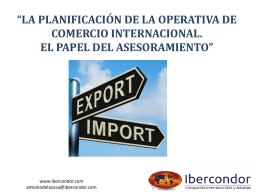 INCOTERMS el lenguaje común del Comercio