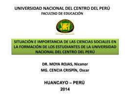 MOYA ROJAS, Nicanor - Facultad de Educación