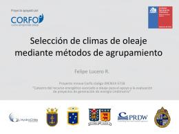 Selección de Climas de Oleaje Mediante Métodos de Agrupamiento.