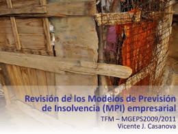3. Modelos de Previsión de Insolvencia (MPI) - RiuNet