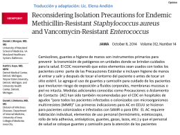 Reconsiderando el Aislamiento de Contacto para ERV y SAMR