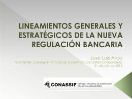 lineamientos generales y estratégicos de la nueva regulación