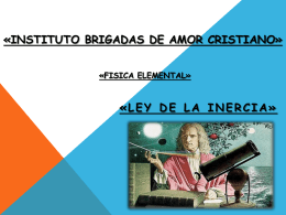 LEY DE LA INERCIA - INBACEspacioMatematico