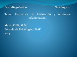 Entrevista de Evaluación y secciones relacionadas.