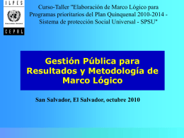 Marco Lógico - Dr. Eduardo Aldunate