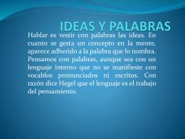 IDEAS Y PALABRAS - fundamentos de la empresa