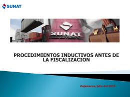 PROCEDIMIENTOS INDUCTIVOS ANTES DE LA FISCALIZACION