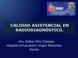 calidad asistencial en radiodiagnóstico.