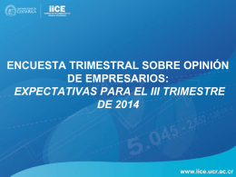Encuesta Trimestral sobre Opinión de Empresarios: Expectativas