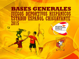 Bases Juegos Hispanos - Estadio Español de Talca