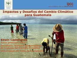 Impactos en Guatemala del CC y ley Probosque