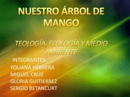 NUESTRO ARBOL DE MANGO. TEOLOGÍA, ECOLOGIA Y MEDIO