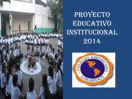 NUESTRO PROYECTO EDUCATIVO INSTITUCIONAL
