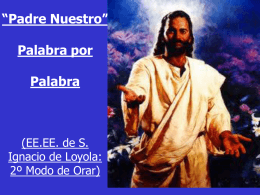 contemplando el significado de cada palabra del Padre Nuestro [EE