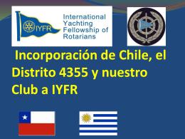 Informe incorporación de Chile y nuestro Club a IYFR