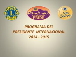 Programa Presidente Internacional