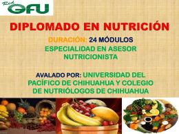 DIPLOMADO EN NUTRICION