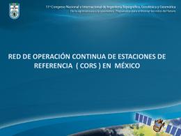 (cors) en México - Colegio de Ingenieros Tópografos AC
