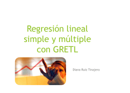 Regresión lineal simple y múltiple con GRETL