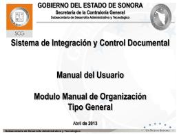 Coordinador Interno - sicad - Gobierno del Estado de Sonora