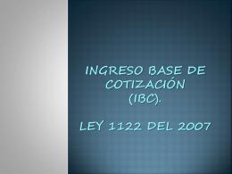 Ingreso base de cotización (ibc) (1) (278273)