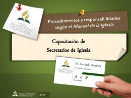 Seminario Secretarios de Iglesia ACD