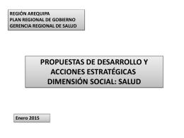 Propuesta - Gerencia Regional de Salud de Arequipa