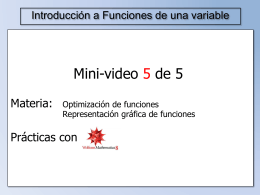 Optimización de funciones de una variable
