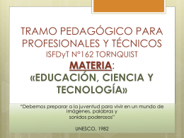 TRAMO PEDAGÓGICO PARA PROFESIONALES Y
