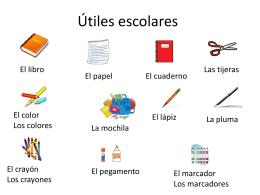 Articulos, nouns, Escuela - Mrs. Lopez Spanish