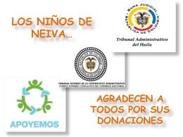 Descargar presentación en Power Point Donaciones