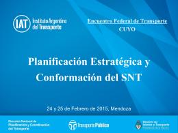 Planificación Estratégica y Conformación del SNT