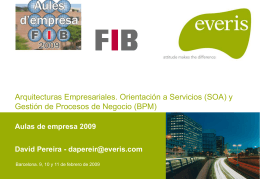 Arquitecturas Empresariales. Orientación a Servicios (SOA) y