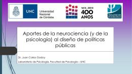 Aportes de las Neurociencias para el Diseño de Politicas Publicas.