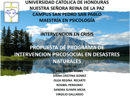 UNIVERSIDAD CATOLICA DE HONDURAS NUESTRA SEÑORA